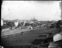 Utsikt över Södra stationsområdet 1896