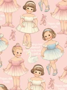 Gorgeous paper doll mate wearing chiffon tutu. They have a ballet class today. Meet our new ballet concept pattern.