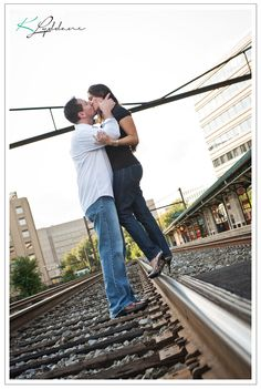 Kimberly Lyddane Photography, DC Engagement train tracks #wedding