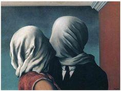 """""""Los amantes"""", 1938, Rene Magritte - The Museum of Modern Art, New York.  Probablemente el beso más romántico de la Historia del Arte."""