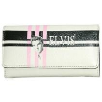 Elvis Presley Eighties Wallet-277EL1830 Synthetic leather Snap closure Bill compartment Credit Card slots ID window Back zipper for coins