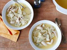 Recipe of the Day: Easy Chicken and Dumplings Chicken meets tender dumplings in Sunny's hearty, home-cooked dish. To make the super-flavorful broth, she infuses store-bought stock with fresh chicken and plenty of herbs.