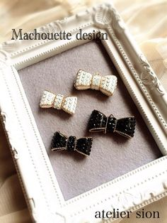 {B115BE53-A0E7-4E8D-B409-9193658CC530:01} Minimal Jewelry, Jewelry Box, Chanel, Bows, Embroidery, Decoration, Crafts, Accessories, Needlepoint