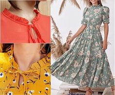 Ideias Fashion, Gowns, Embroidery, Summer Dresses, Sewing, Pretty, Peplum, Women, 36