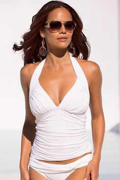 81490029a1953 This tankini top with ruched sides and halter tie is part of our new sexy  swim
