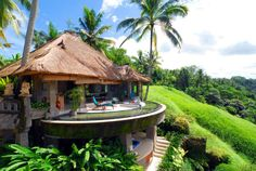 "Viceroy Bali resort is situated on the secluded ridge of the Petanu River gorge along Bali's ""Valley of the Kings"" in Indonesia."