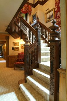 Period Oak Staircase, antiqued and distressed. www.arttus.com