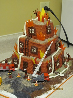 Fireman cake....  might be beyond my skill-level though!