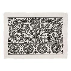 Dinner Placemats : Review Your Custom Product Hungarian Embroidery, Embroidery Works, Embroidery Motifs, Embroidery Designs, Drawing Stencils, Polish Folk Art, Indian Folk Art, Applique Quilts, Applique Designs