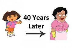 Dora could be Consuela from family guy 40 years later lol