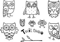 Crafty Impressions A6 Cathie Shuttleworth Twit Twoo Stempel