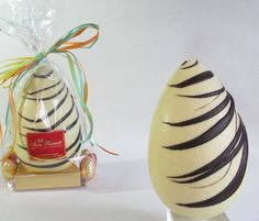 Stunning Handmade Blonde Chocolate Easter Egg