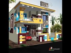 Dream house plans, small house plans, house floor plans, indian home design Modern Small House Design, Sweet Home Design, Indian Home Design, House Design Photos, Dream House Plans, Modern House Plans, Small House Plans, House Floor Plans, House Front Wall Design