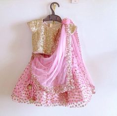 Dress up your little diva in a Swiss Tulle Lehenga Choli Pink Color. looks charming and pretty. This Lehenga Choli will make your dear little angel look adorable for any special occasion. Kids Lehenga Choli, Indian Lehenga, Net Lehenga, Baby Lehenga, Ghagra Choli, Sharara, Bridal Lehenga, Sarees, Sequin Crop Top