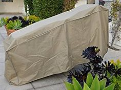 Premium Tight Weave Patio stacking chaise cover 84″L x 30″W x 40″H back/36″ front in Taupe