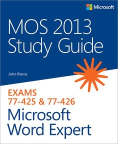 I'm selling MOS 2013 Study Guide for Microsoft Word Expert - $20.00 #onselz
