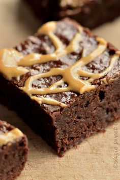 Mocha Brownies with Coffee Drizzle Icing