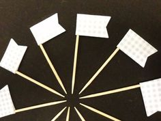 Dekoration - Muffin / Cupcake Stecker Fähnchen Deko 10 Stück - ein Designerstück von kreativesherzerl bei DaWanda