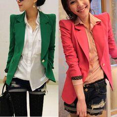 Fashion Long Sleeve One Button Slim Casual Women Blazer Suit Jacket Coat Outwear #Unbranded #Blazer