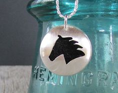 Sterling Silver Essential Oil Necklace - Horse Cut-Out Silver Pendant - Horse - Animal - Aromatherapy - Diffuser - Made to Order