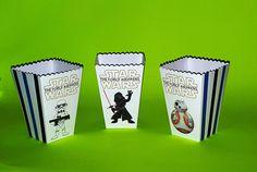 Mini Star Wars popcorn boxes from Pish Posh Partique on Etsy