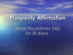 The secret law of attraction Prosperity Affirmation