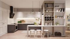Re:model - Integrated Storage with kitchen island. Can use as...