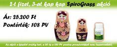 SpiroGrass 2+1 akció: http://ganoexcel.hu/hirek/291-idoszakos-csomagajanlatok-es-promociok-2015-februar