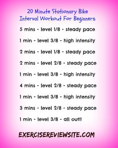 30 Minute Stationary Bike Interval Workout … | Pinteres…