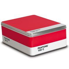Pantone - Ruby Red Metal Box - 186  #pantone #box #red