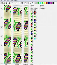 6 - цветы : флора : формат dbb и jbb : Схемы для вязаных жгутов : Файлы : jbead