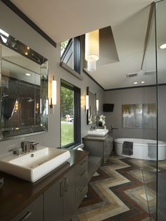 Bathroom Grey Brown Design, Pictures, Remodel, Decor and Ideas - page 5