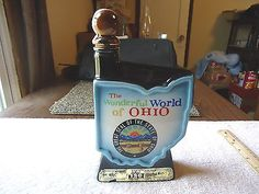 "Vintage Jim Beam "" The Wonderful World Of Ohio"" Handcrafted Regal China Decanter #vintage #collectibles #ceramics #home"