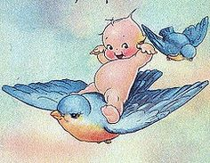 Blue Bird of Kewpie tattoo idea