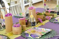 Tinkerbell Party + Diy wood cylinders