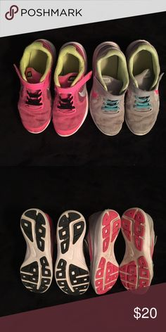 Size 3 Girls Nike Tennis Shoes Size 3 Girls Nike Tennis Shoes (My daughter wore these quite a bit but they still have great use left out of them. She grew out of them.) Very comfortable. Great for playing!! Nike Shoes Sneakers