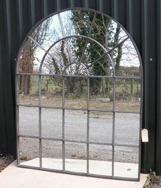 Large Cast Iron Window Mirror, £750.00