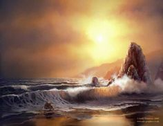 andy simmons  - Seascape Digital Paintings by Andy Simmons  <3 <3