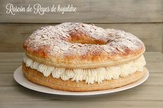 Roscón de Reyes de hojaldre, relleno de nata montada - MisThermorecetas