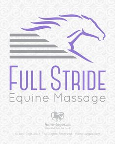 Custom equine logo design created for Hilary Ayres-Virgil of Full Stride Equine Massage. Massage Logo, Horse Logo, Equine Art, Fun At Work, Marketing Ideas, Custom Logos, Make Me Happy, Unicorns, Mustang