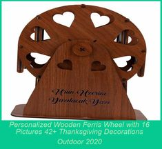 You can use the 16-Photo Wooden Ferris Wheel design for a romantic gift, which consists of 16 photo and message fields, where you can send a special message to the person. You can give a nice gift to your wife, lover, family or friends about the moments you spend together. It allows you to express your feelings effectively with an impressive message that you can write on the 16-Photo Wooden Ferris Wheel. If you are looking for a memorable, unforg thanksgiving decorations outdoor Person Thanksgiving Crafts, Thanksgiving Decorations, Christmas Tree Decorations, Christmas Lights, Christmas Crafts, Christmas Nails, Thanksgiving Desserts, Thanksgiving Outfit, Table Decorations