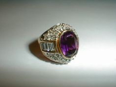ivana trump gp amethyst clear pave crystals by fadedglitter42263, $65.00