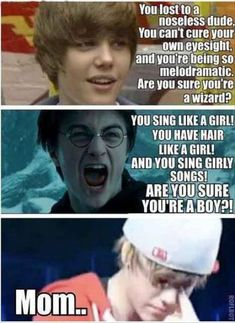 Latest Really Funny Latest Justin Bieber Harry potter VS Justin Bieber Funny Jokes, Harry Potter Meme, Funny Images and Justin Beiber Memes, Justin Bieber Quotes, Justin Bieber Pictures, Estilo Harry Potter, Harry Potter Puns, Harry Potter World, Funny Harry Potter Quotes, Harry Potter Parody, Album Cover