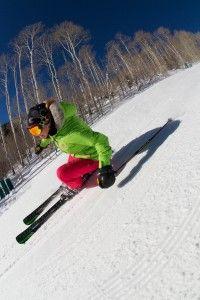 Heidi Voelker skiing Deer Valley Resort