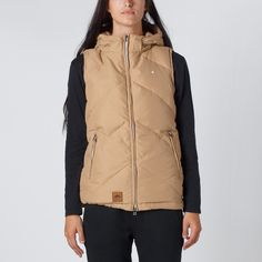 Huffer | Huffer Store | Huffer Womans Classic Down Vest - Tan | Thanks Store Online Down Vest, Store Online, Rain Jacket, Windbreaker, Raincoat, Costumes, Classic, Clothing, Jackets