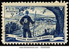 Future Farmers of America stamp 1950s. Sweet.