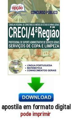 Apostila - SERVIÇOS DE COPA E LIMPEZA - CRECI - 4ª Região