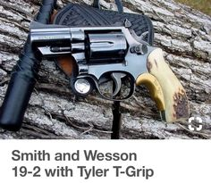 Smith and Wesson with Tyler T-Grip Smith And Wesson Revolvers, Smith N Wesson, Revolver Pistol, Custom Revolver, Shotguns, Firearms, Fire Powers, Hunting Rifles, Cool Gear