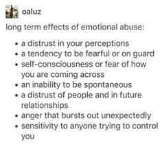 I'm not being emtionally abused (not that I'm aware of it, I'm single and my parents love me so...) but I already do like 99% of these things.
