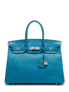 Hermès Bleu Izmir Taurillon Clemence Birkin 35cm